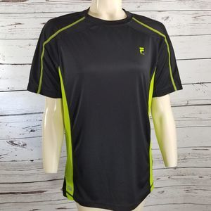 FILA SPORT BLACK LIME GREEN T-SHIRT